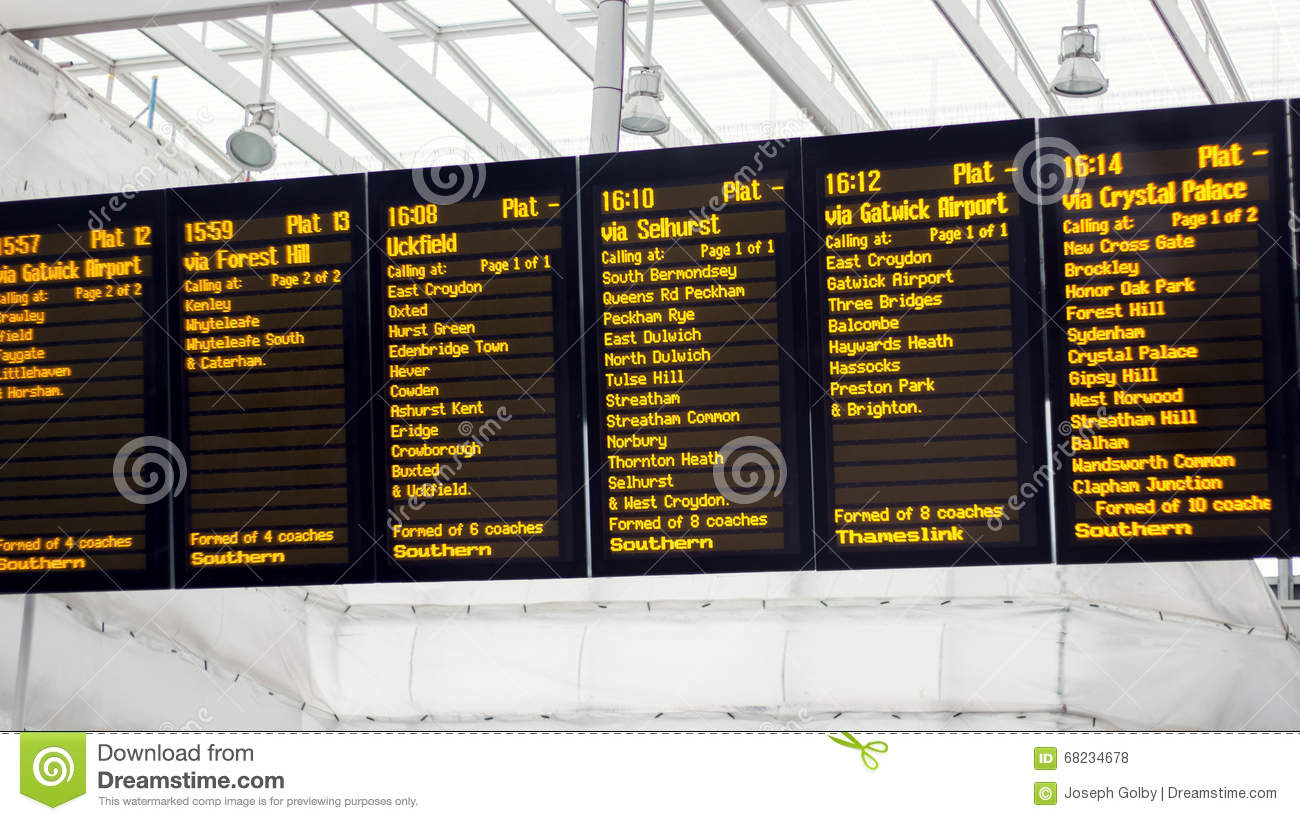 Departure Board Royalty Free Stock Photos.