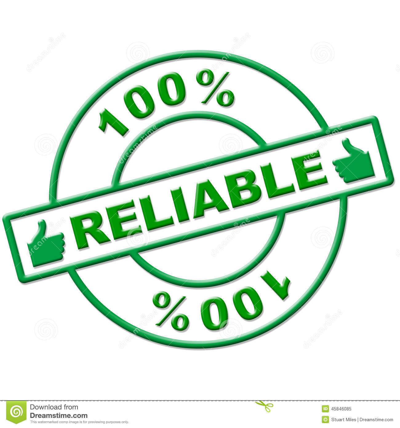 Hundred Percent Reliable Means Absolute Depend And Relying Stock.