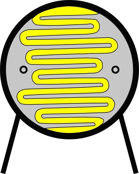 Light Dependant Resistor Ldr clip art Free vector in Open office.