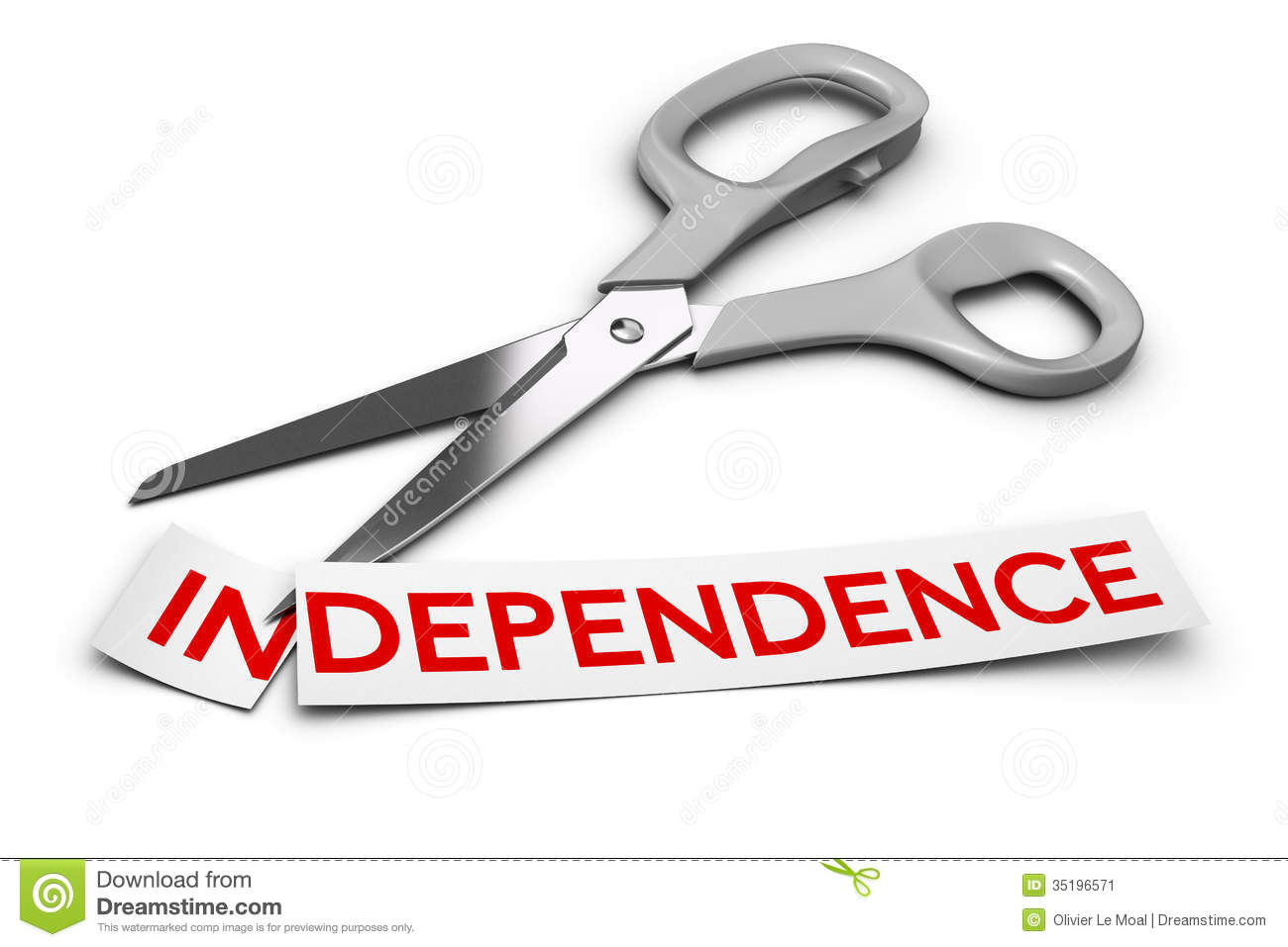 Dependence Vs Independence, Addiction Stock Image.