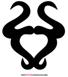Taurus sign tattoo design.