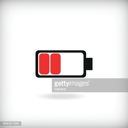 low battery icon Clipart Image.