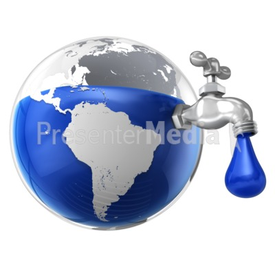 Dripping Water Faucet in the Earth.