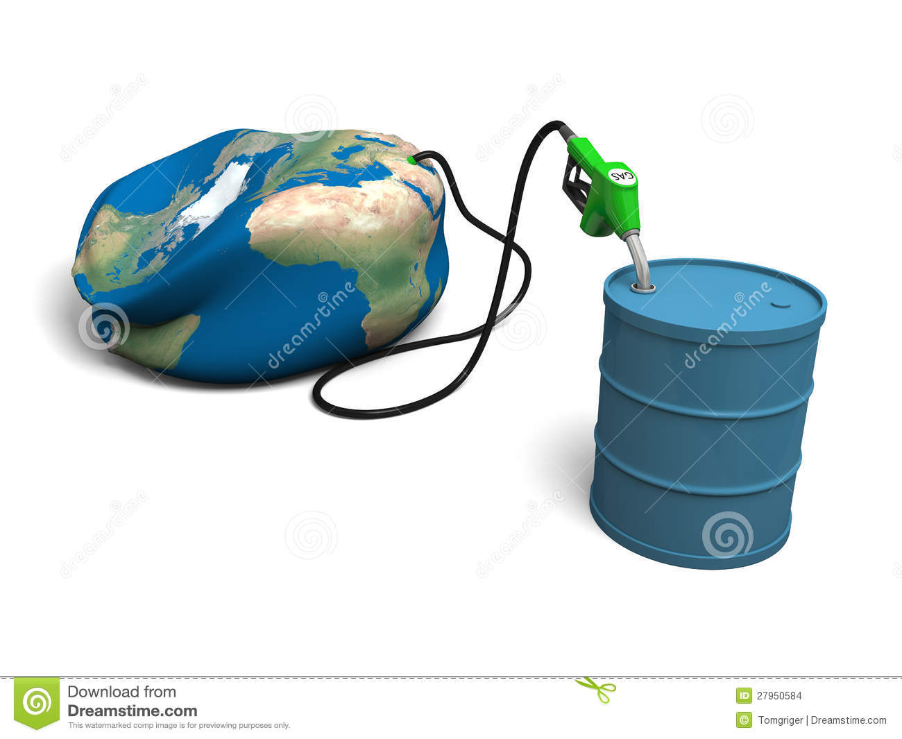 Oil Depletion Royalty Free Stock Photo.