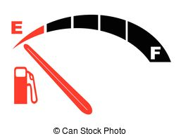 Clipart of Running on Empty.