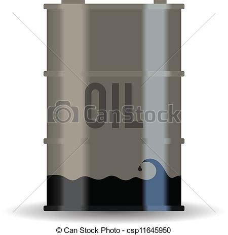 Clipart Vector of Depleted Oil Resource.
