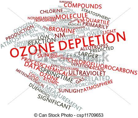 Stock Illustrations of Ozone depletion.