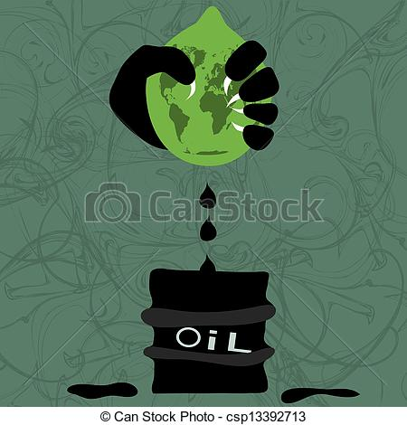 Vector Clip Art of extraction of oil.