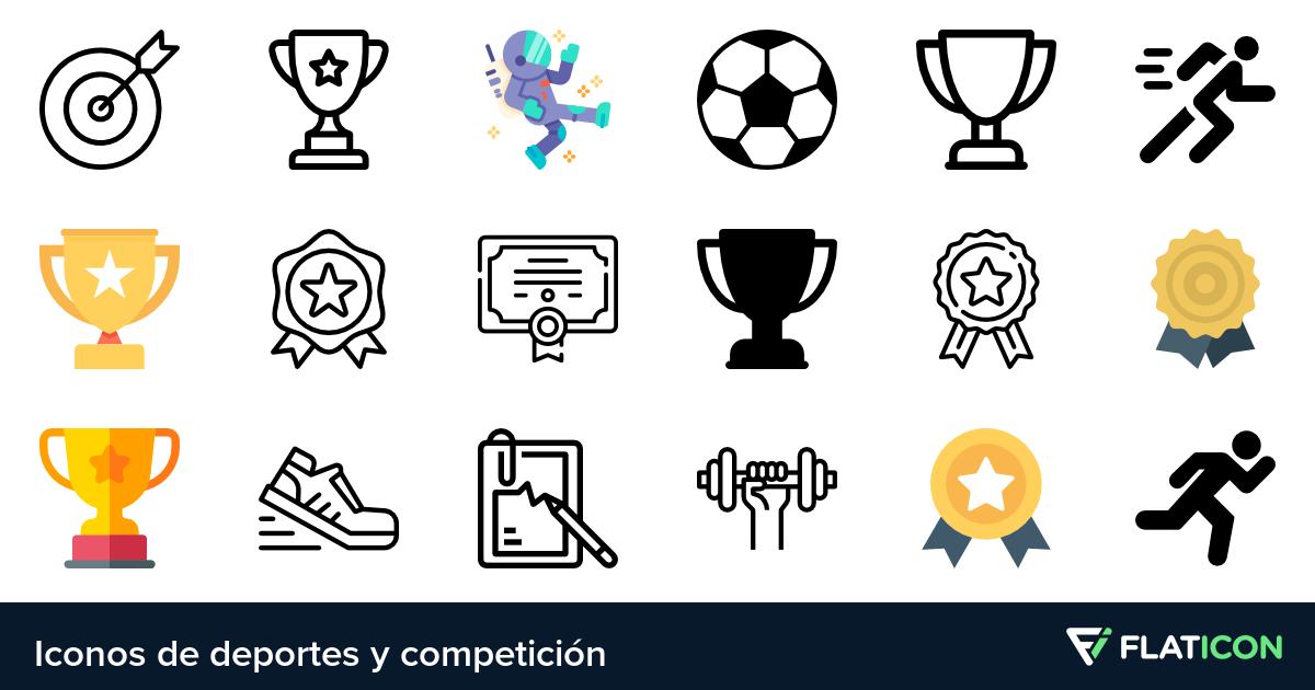 Iconos de Deportes y competición.