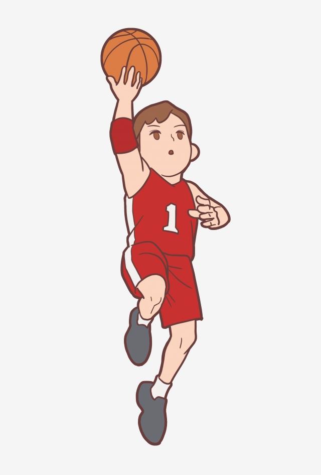 Deportistas Deportistas De Dibujos Animados Jugadores De Baloncesto.