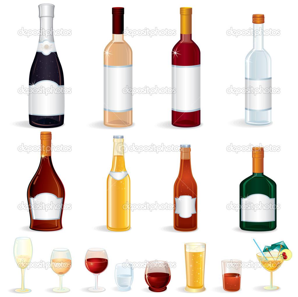Bottle Icons — Stock Vector © PILart #8437806.