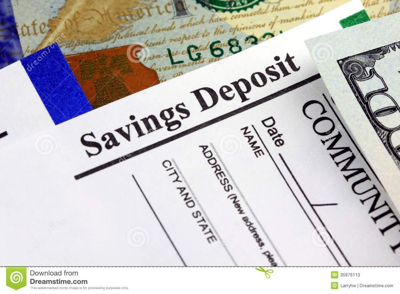 deposit slip clipart