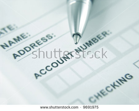 Bank Deposit Withdrawal Slip Stock Photo 9691975.