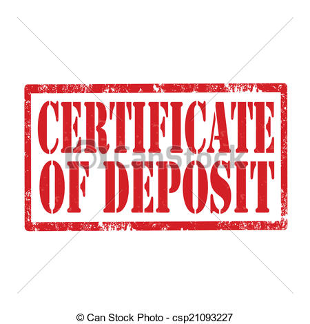 Vector Illustration of Certificate Of Deposit.