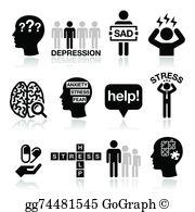 Depression Clip Art.