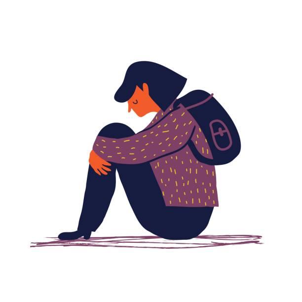 Best Depression Illustrations, Royalty.