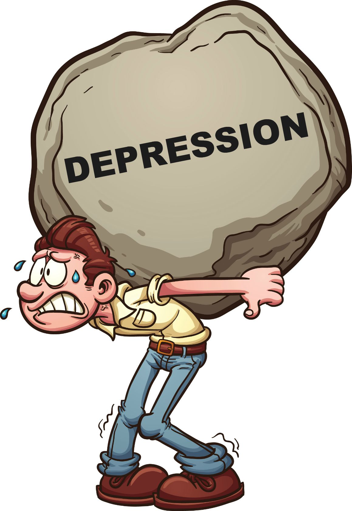 Causes of depression clip art clipart download.