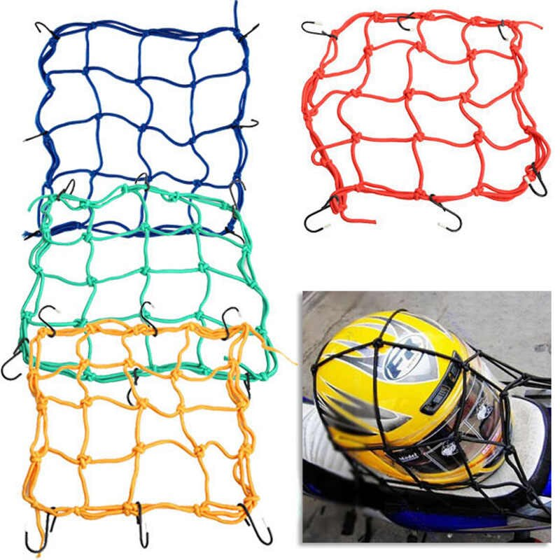 30*30cm Motorcycle Hold Down Fuel Tank Luggage Net Mesh.