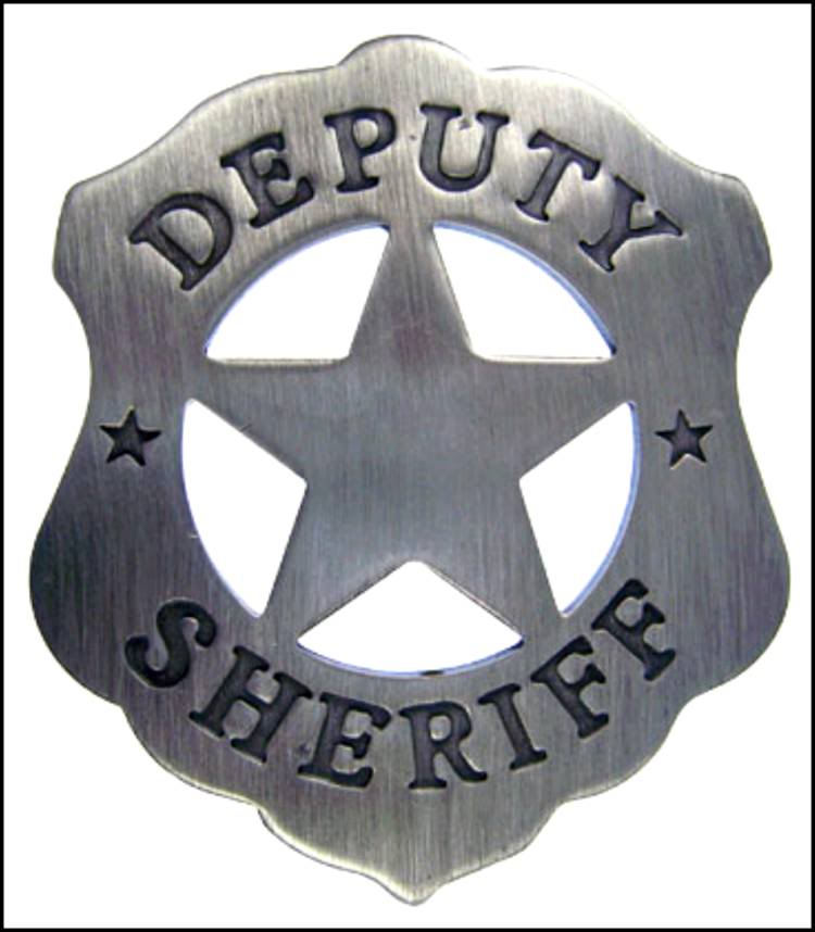 REPLICA OLD WEST DEPUTY SHERIFF'S BADGE SASS NCOWS For Sale At.