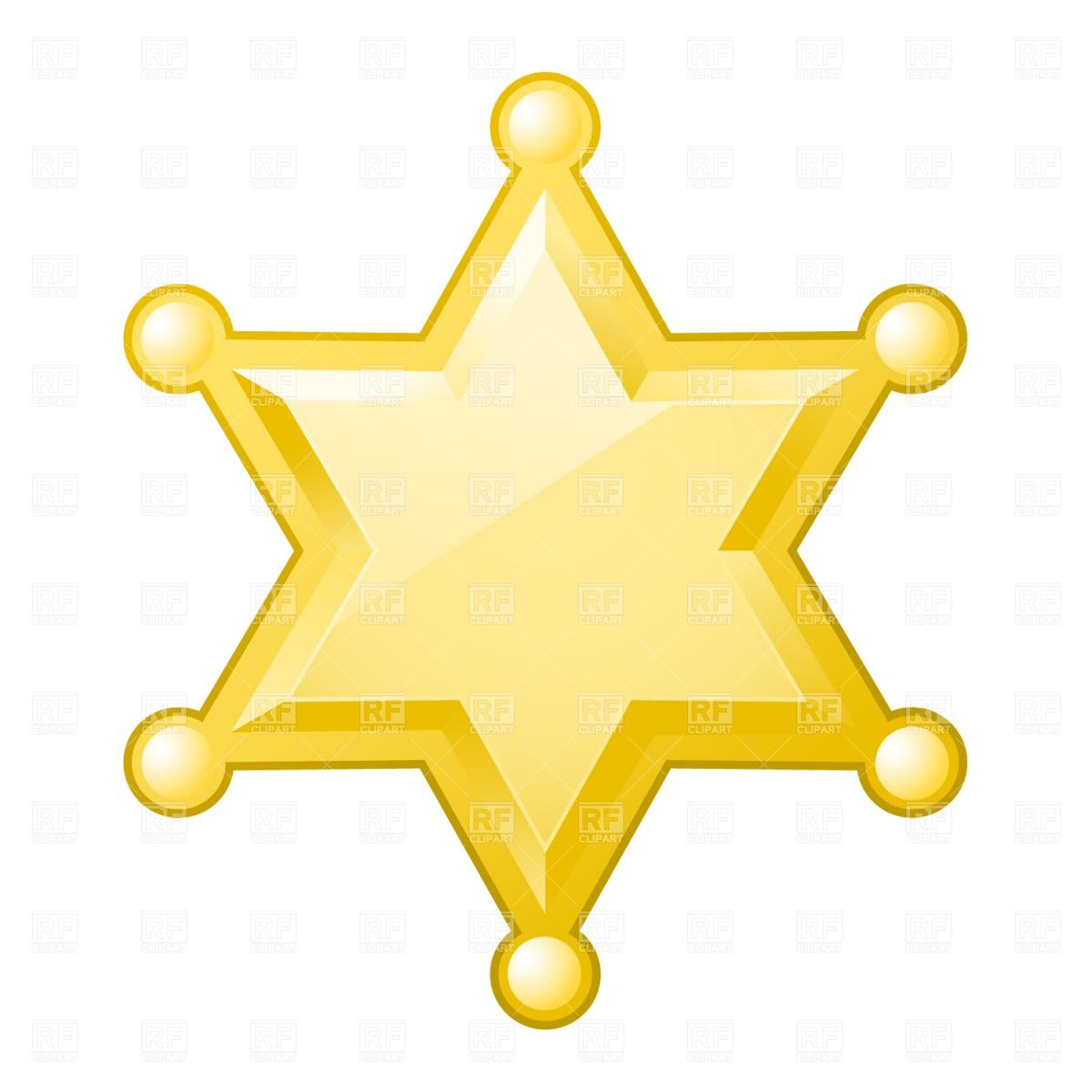 Deputy Star Clipart.