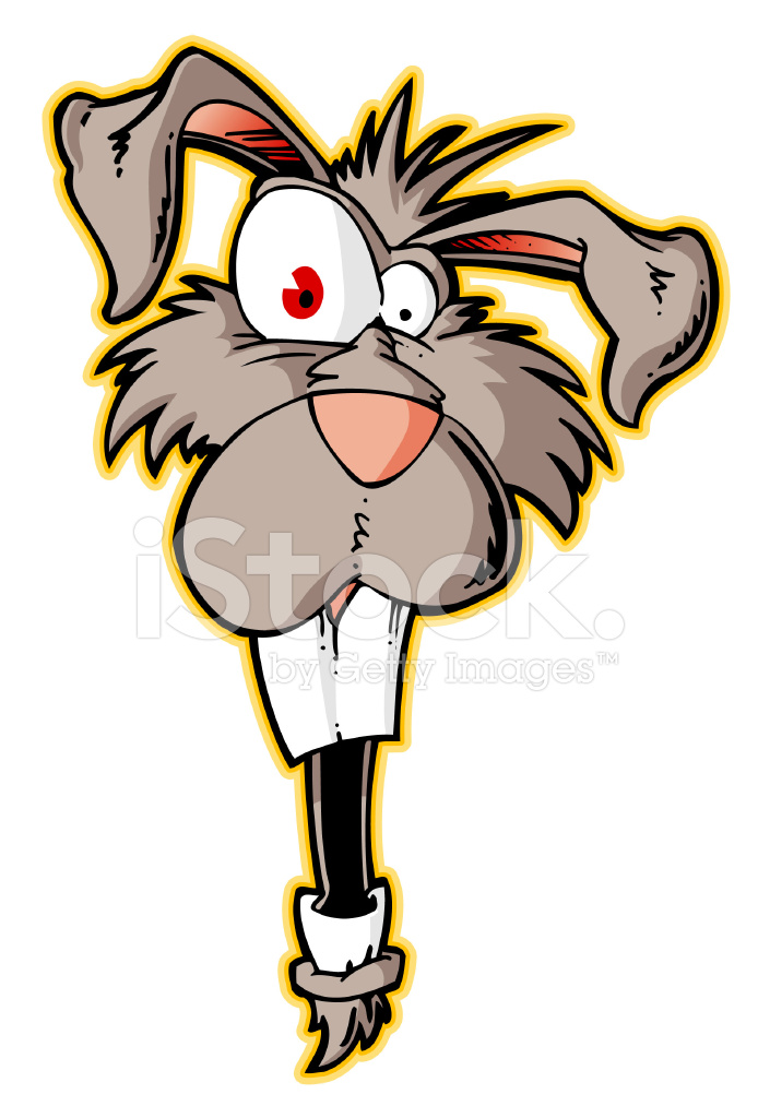 Deranged Rabbit Stock Vector.