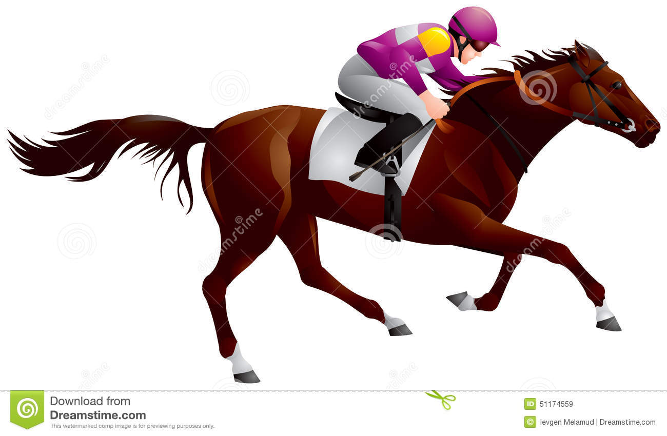 Derby horse clipart.