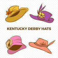 Kentucky Derby Hats Free Vector Art.
