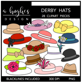 Derby Hats Clipart {A Hughes Design} in 2019.