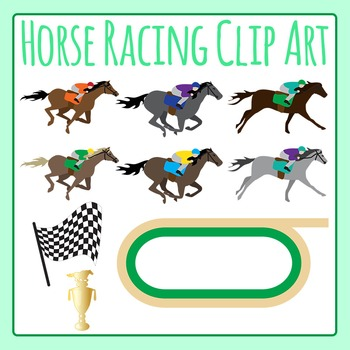 Horse Racing Derby Clip Art Set for Commercial Use.