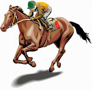Kentucky derby horse clip art.