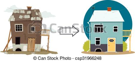 Derelict house Vector Clip Art Illustrations. 24 Derelict house.