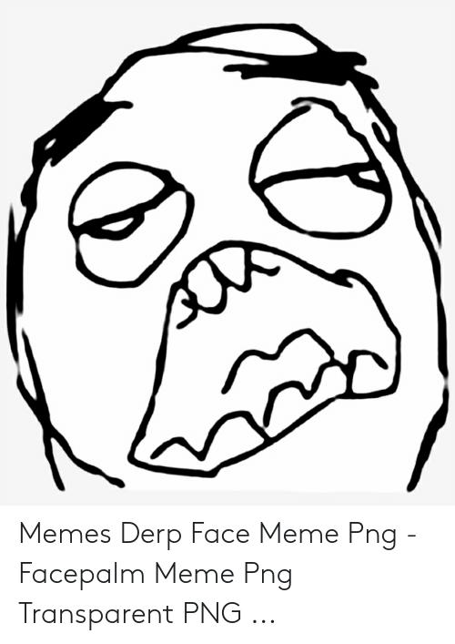 Memes Derp Face Meme Png.