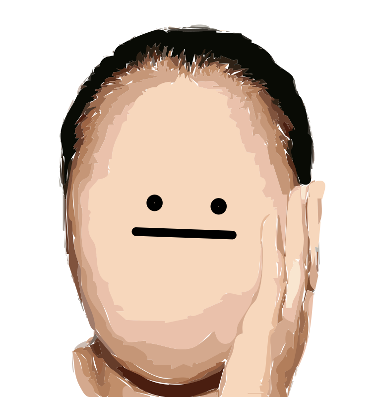 Download Free png Faceless Remix Derp Face Vectorized.