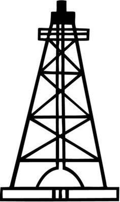 Oil rig derrick clipart.