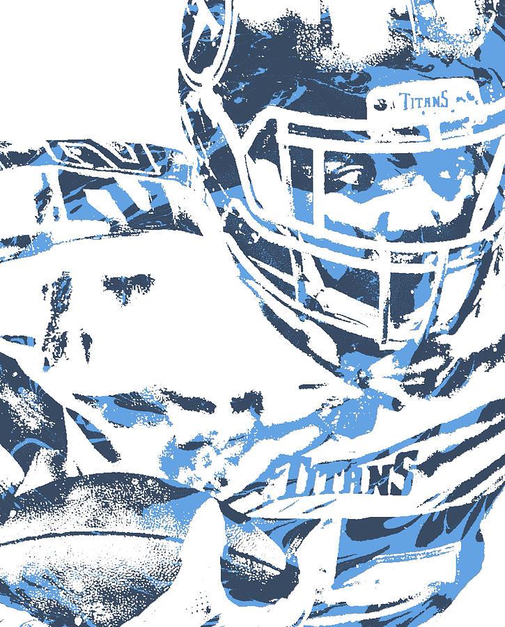 Derrick Henry Tennessee Titans Pixel Art 100.