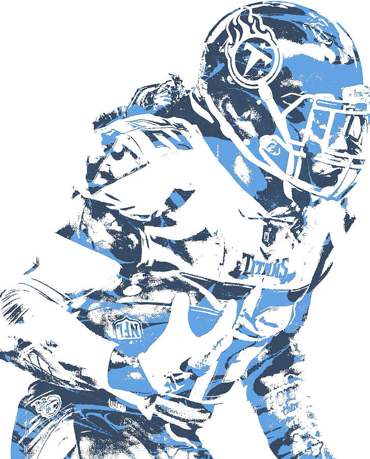 Derrick Henry Tennessee Titans Pixel Art 110.