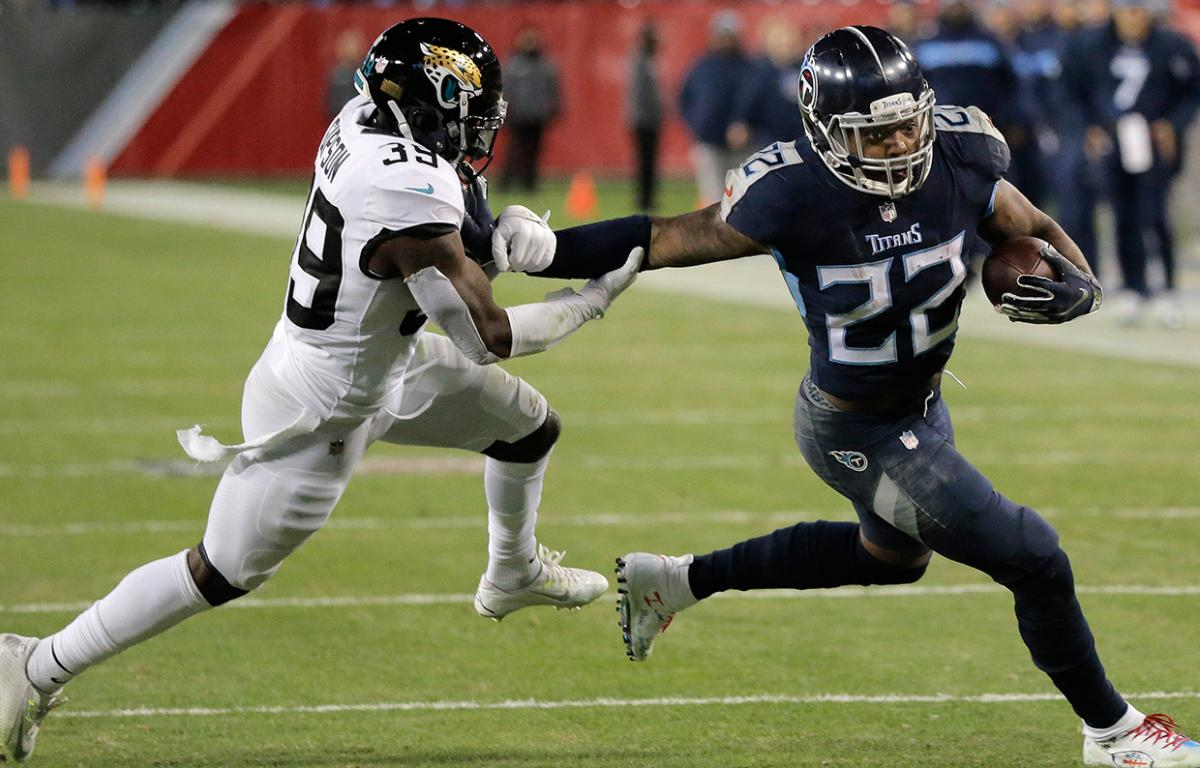 Titans Derrick Henry has breakout game with 4 TD\'s.