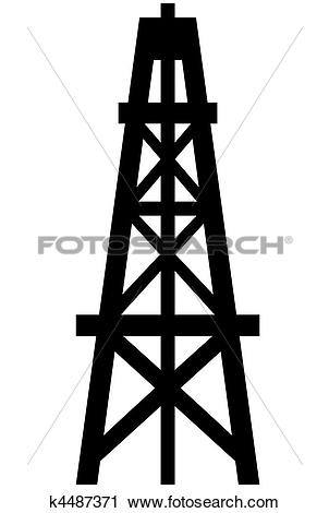 Clipart of Oil Derrick k4487371.