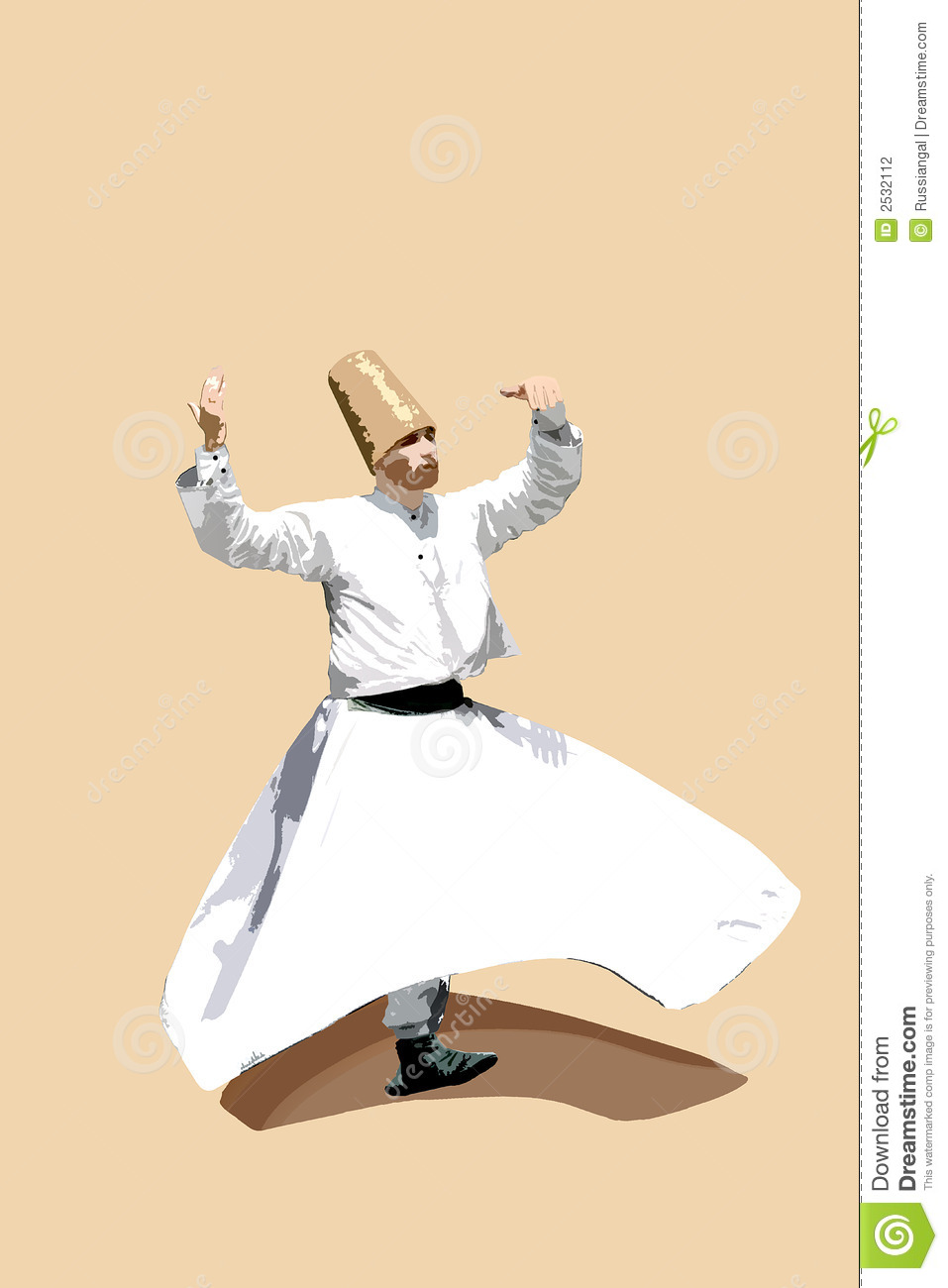 Whirling Dervish Stock Photography.