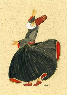 Sufi whirling or spinning, a twirling meditation that originated.