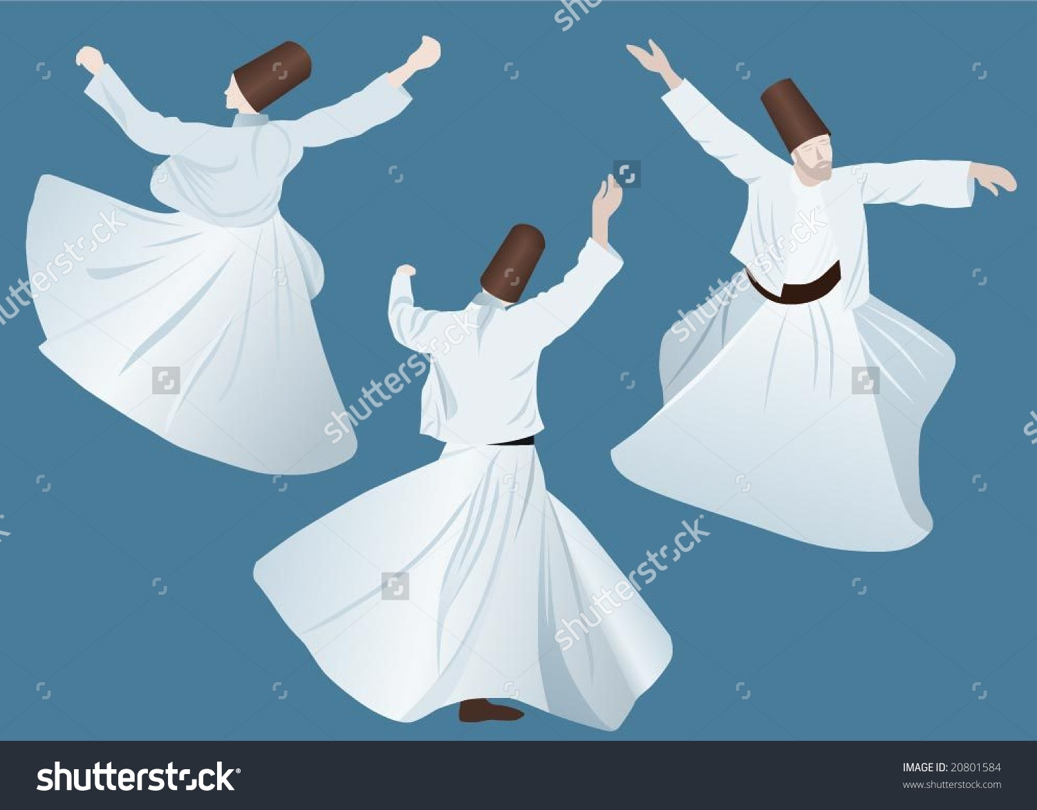 Whirling Dervish Stock Vector 20801584.