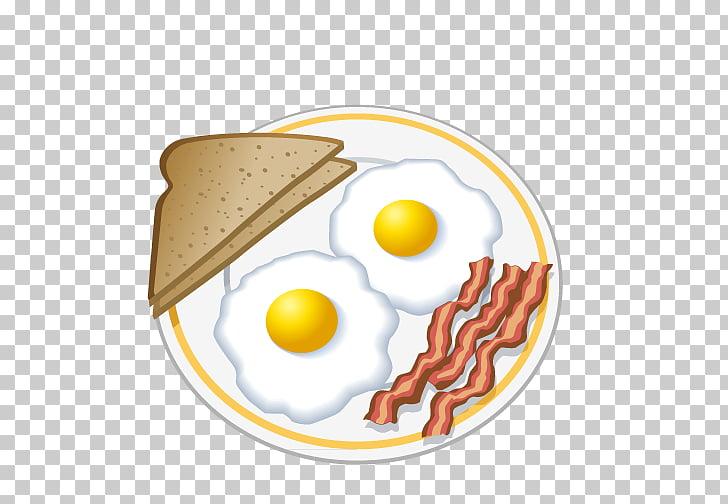 Desayuno huevo frito tortilla dibujo, desayuno nutritivo PNG.