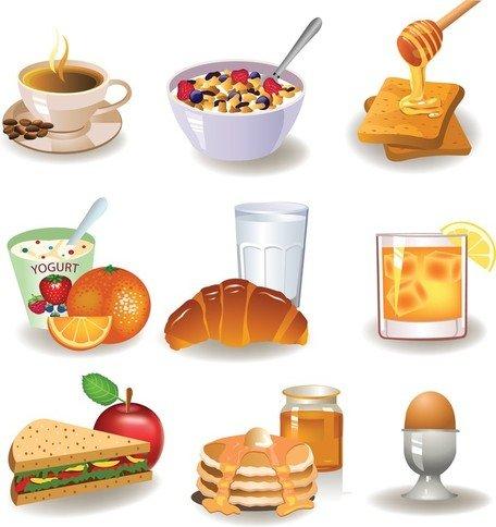 Imágenes clip art y gráficos vectoriales Desayuno imagen 01.