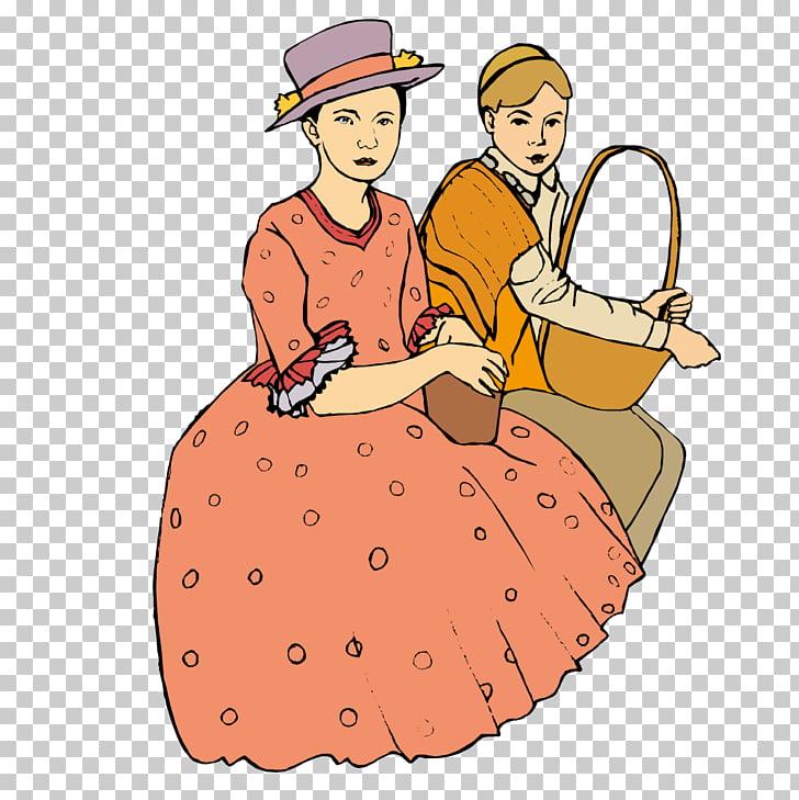 Ilustración, la mujer se sentó a descansar. PNG Clipart.