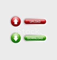 Botones DE Carga Y Descarga vectores en stock.