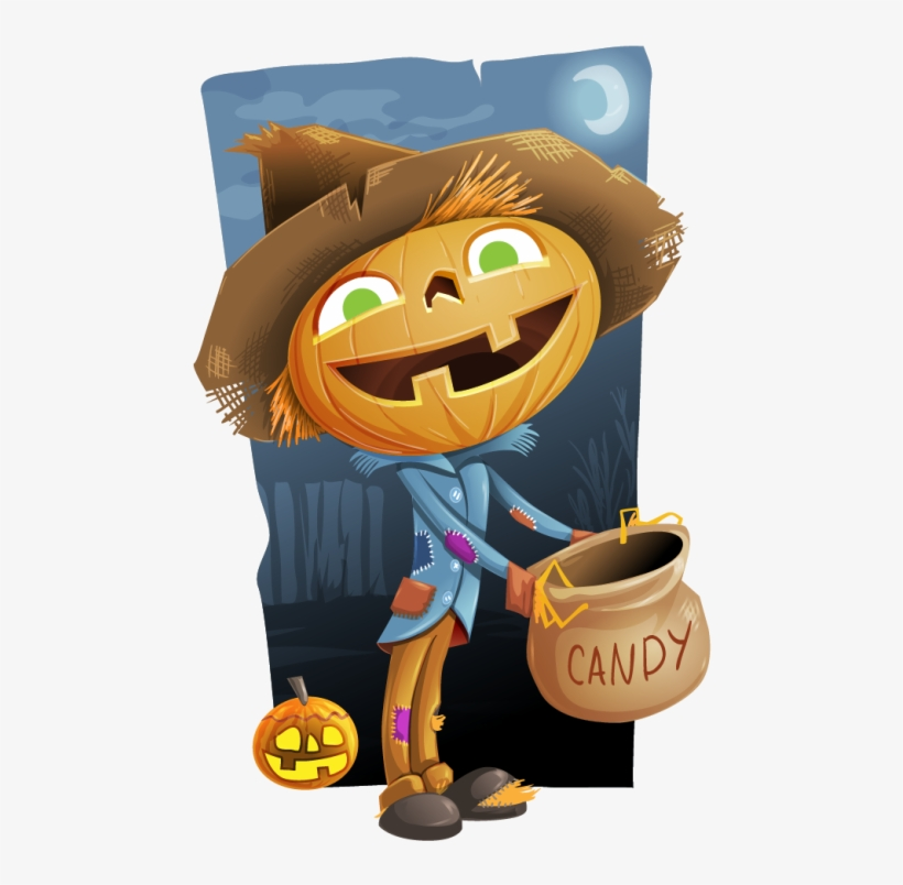 Pin Pumpkin Head Scarecrow Clipart.