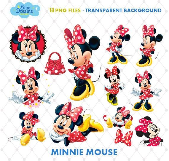 Minnie Mouse Clipart, PNG Clip Art Files, Minnie Mouse.