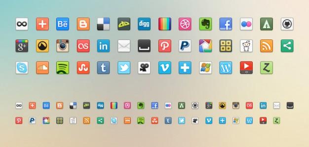Medios de comunicación social iconos png.
