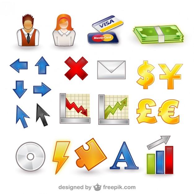 Paquete de vectores conjunto de iconos finanzas.