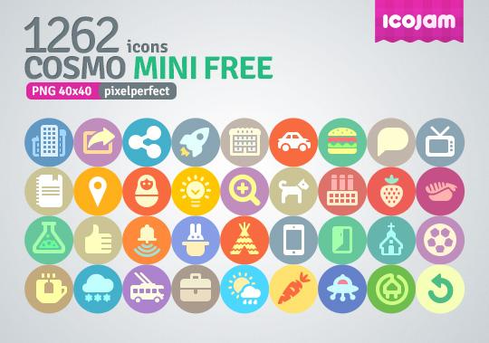 Gratis set de 1262 iconos png para descargar.